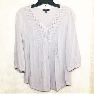 Spense Blouse - Gray/silver